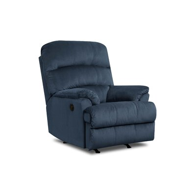 Camina Manual Rocker Recliner by Simmons Upholstery Upholstery: Marine, Recliner Mechanism: Power Recline