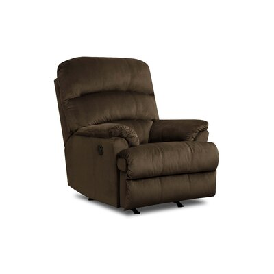 Camina Manual Rocker Recliner by Simmons Upholstery Upholstery: Umber, Recliner Mechanism: Power Recline
