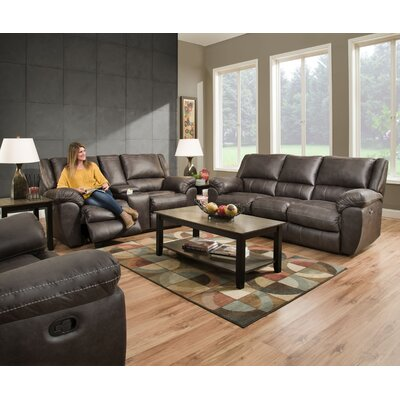 Simmons Upholstery Lena Motion Reclining Sofa Recliner Mechanism: Manual, Upholstery: Granite