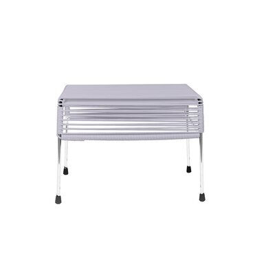 Cobbey Cocktail Ottoman Finish: Chrome/Clear