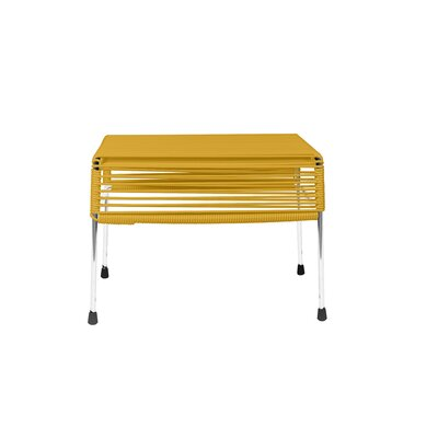Cobbey Cocktail Ottoman Finish: Chrome/Yellow
