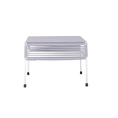 Cobbey Cocktail Ottoman Finish: White/Clear