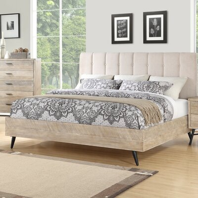 Laquita Upholstered Platform Bed Size: King