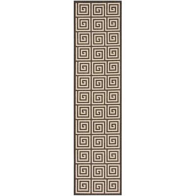 Horne Cream/Brown Area Rug Rug Size: Runner 2 x 8