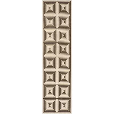 Horne Creme/Brown Area Rug Rug Size: Runner 2 x 8