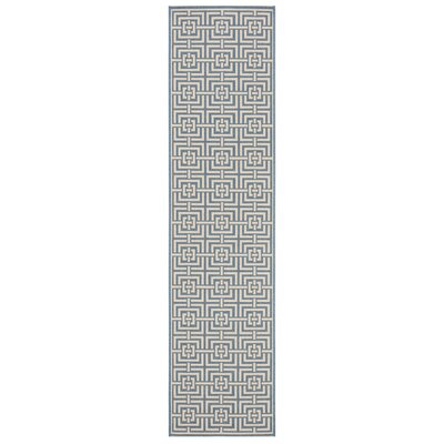 Horsholm Blue/Cream Area Rug Rug Size: Runner 2 x 8