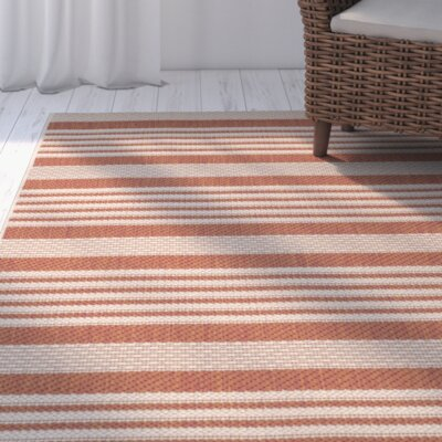 Sophina Orange Indore/Outdoor Area Rug Rug Size: Rectangle 27 x 5