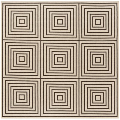 Kallias Contemporary Gray/Beige Area Rug Rug Size: Square 6'7