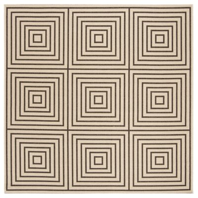 Horne Creme/Brown Area Rug Rug Size: Square 67