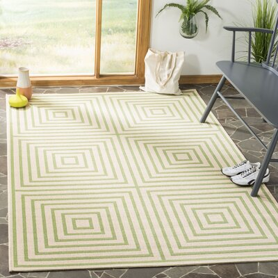 Horne Cream/Olive Area Rug Rug Size: Rectangle 51 x 76