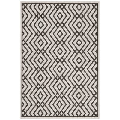 Kallias Contemporary Light Gray Area Rug Rug Size: Rectangle 51 x 76