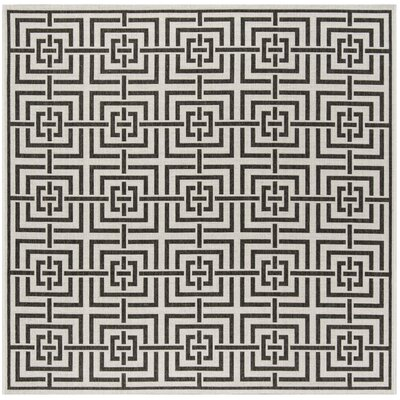 Kallias Light Gray Lattice Area Rug Rug Size: Square 67