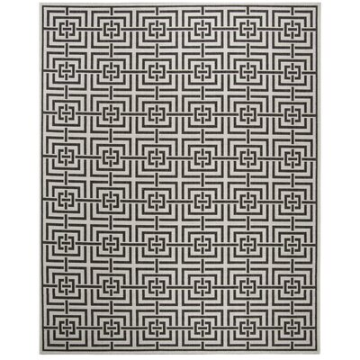 Kallias Light Gray Lattice Area Rug Rug Size: Round 67