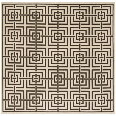 Kallias Natural Gray/Beige Area Rug Rug Size: Square 67