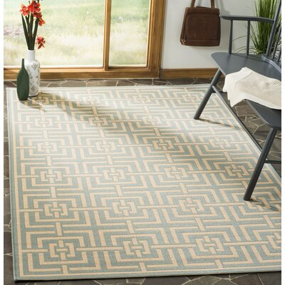 Shea Aqua/Cream Area Rug Rug Size: Rectangle 9 x 12