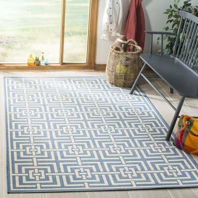 Horsholm Blue/Cream Area Rug Rug Size: Rectangle 51 x 76