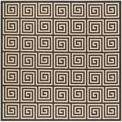 Kallias Contemporary Natural Lattice Area Rug Rug Size: Square 67