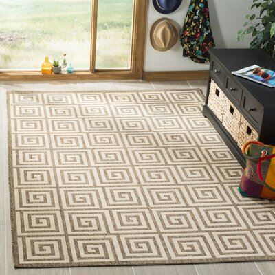 Kallias Cream/Beige Area Rug Rug Size: Rectangle 9 x 12