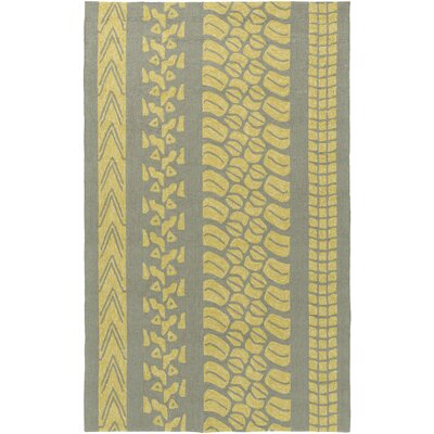 Boles Gold/Moss Indoor/Outdoor Area Rug Rug Size: Rectangle 9 x 12