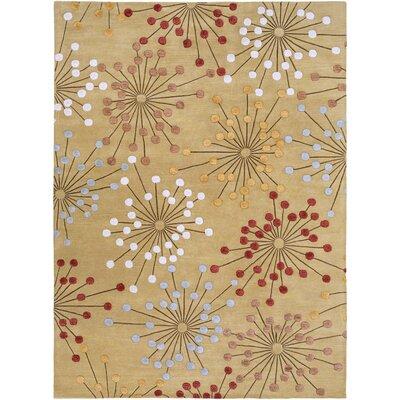 Trisler Hand-Tufted Gold Area Rug Rug Size: 8 x 11