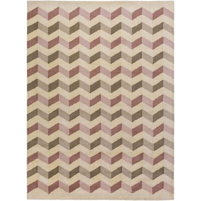 Sevin Hand-Tufted Pink Area Rug Rug Size: 8 x 11
