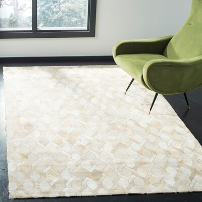 Sevastopol Hand-Woven Ivory Area Rug Rug Size: Rectangle 5 x 8