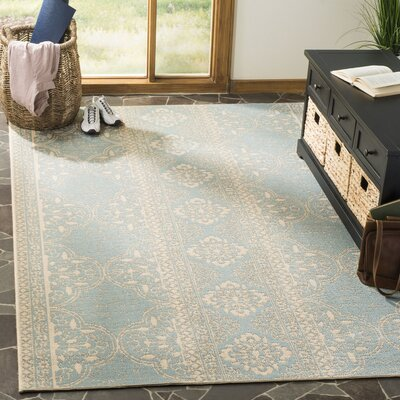 Shantell Aqua/Cream Area Rug Rug Size: Rectangle 9 x 12