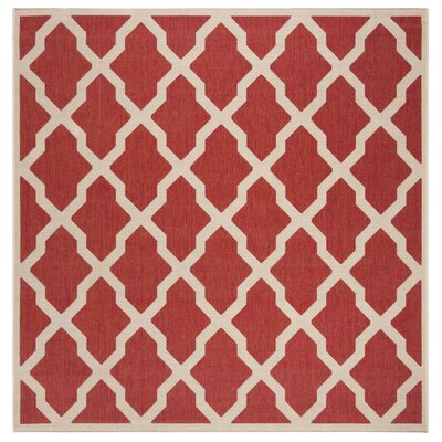Katsikis Red/Creme Area Rug Rug Size: Square 67