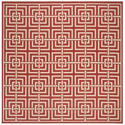 Katsikis Red/Creme Area Rug Rug Size: Square 67