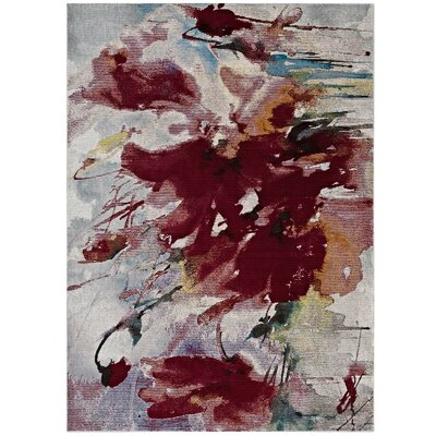 Edgell Burgundy Area Rug Rug Size: Rectangle 53 x 76