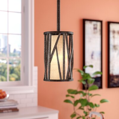 Rehberg 1-Light Mini Pendant Finish: Oil Rubbed Bronze, Size: 8.5 H x 6 W x 6 D