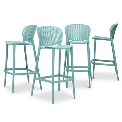 Watertown 29.75 Bar Stool Color: Surfin Blue
