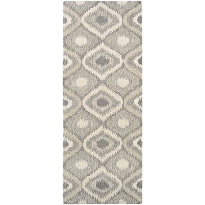 Lorentz Hand Woven Wool Cream/Brown Area Rug Rug Size: Runner 22 x 79