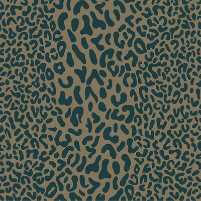 Macias Teal Animal Print Area Rug Rug Size: Square 6