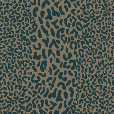 Macias Teal Animal Print Area Rug Rug Size: Square 8