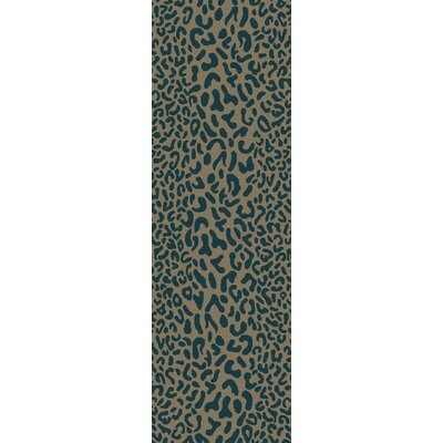 Macias Teal Animal Print Area Rug Rug Size: Runner 3 x 12
