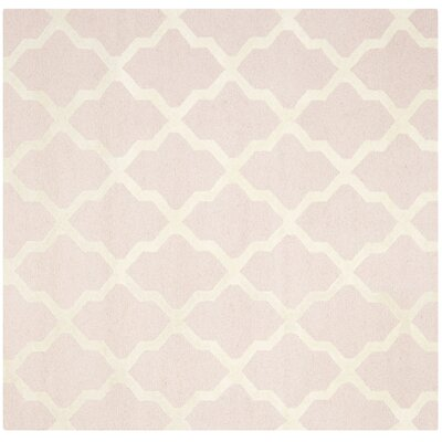 Clifford Light Pink/Ivory Area Rug Rug Size: Square 6