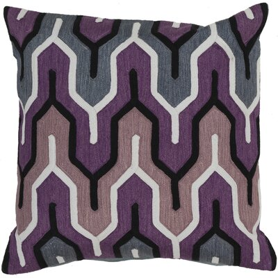 Chew Stoke 100% Cotton Throw Pillow Size: 18 H x 18 W, Color: Purple, Filler: Down