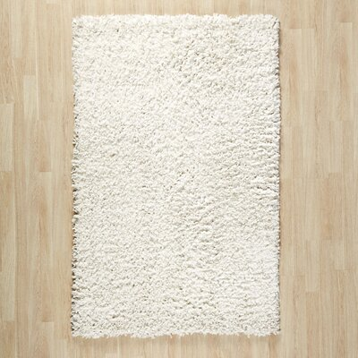 Shag Hand-Tufted Cream Area Rug Rug Size: 4 x 6