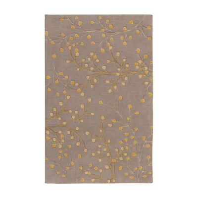 Middlebrooks Medium Gray Area Rug Rug Size: Rectangle 5 x 8