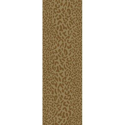 Macias Beige Animal Print Area Rug Rug Size: Runner 26 x 8