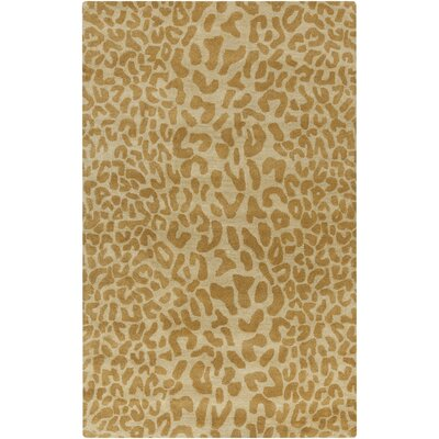 Macias Beige Animal Print Area Rug Rug Size: Rectangle 76 x 96