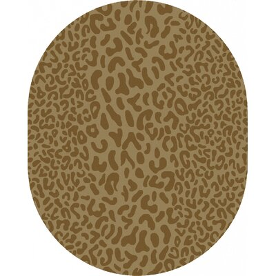 Macias Beige Animal Print Area Rug Rug Size: Oval 8 x 10