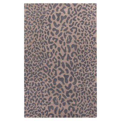 Macias Handmade Gray Animal Print Area Rug Rug Size: Rectangle 5' x 8'