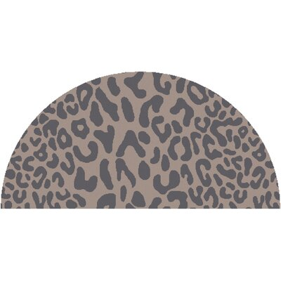 Macias Handmade Gray Animal Print Area Rug Rug Size: Slice 2' x 4'