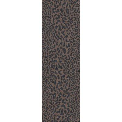 Macias Handmade Gray Animal Print Area Rug Rug Size: Runner 2'6