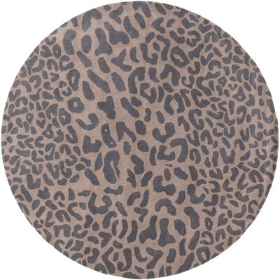 Macias Handmade Gray Animal Print Area Rug Rug Size: Rectangle 4' x 6'