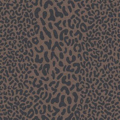 Macias Handmade Gray Animal Print Area Rug Rug Size: Square 8