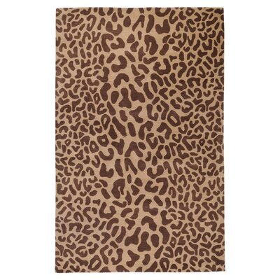 Macias Hand-Woven Tan Area Rug Rug Size: Rectangle 76 x 96