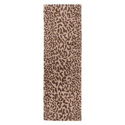 Macias Hand-Woven Tan Area Rug Rug Size: Runner 26 x 8
